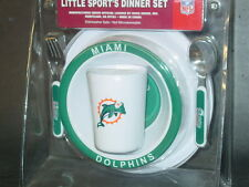NFL Kids Dinner Set, Miami Dolphins, NEW