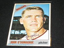 JOHN O'DONOGHUE SIGNED AUTOGRAPH 1966 TOPPS CARD INDIAN