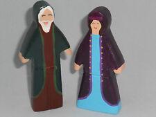 Set De 2 religiosa Figuras De Madera! christmas/nativity/church KS1 Ks2 Preescolar
