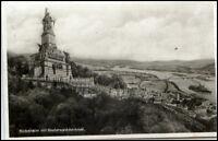 RÜDESHEIM Rhein Hessen Dt. Reich AK 1932 Panorama Blick Niederwald Denkmal