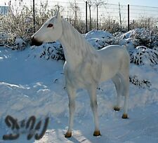 PFERD HORSE SCHIMMEL LEOPOLD lebensgroß GFK Garten  Tier Figur RENNPFERD Bronze