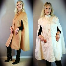Vtg 50s JOHN DOYLE BISHOP Pioggia REVERSIBLE Boho Swing TRENCH Coat CAPE Poncho