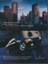 Vintage Lincoln LS Magazine Ad 2001 New York Skyline