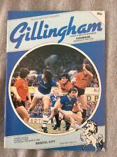 GILLINGHAM V BRISTOL CITY PROGRAMME 1985