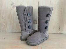 UGG BAILEY BUTTON GRAY TRIPLET TRIPLE TALL BOOTS WOMENS US 5 NEW