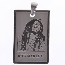 1 PCS Silver Stainless Steel Classic Reggae Bob Marley Chain Pendant Necklace