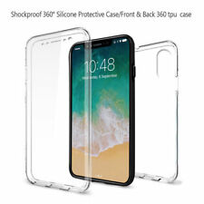 ANTERIORE e POSTERIORE 360 ° protezione TPU GEL TRASPARENTE CASE COVER per Apple Iphone 10/X