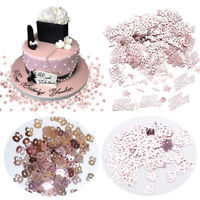 Acrylic Happy Birthday Confetti Party Wedding Decor Sequin Rose Gold 15g DIY