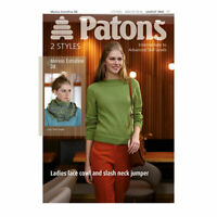 Patons 3943 Knitting Pattern Merino Extra Fine DK Ladies Jumper  2 Styles