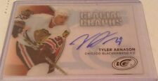 05-06 2005-06 UPPER DECK ICE TYLER ARNASON GLACIAL GRAPHS AUTOGRAPH BLACKHAWKS