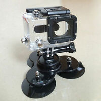 Car Triangle Suction Cup + Tripod Mount + Screws For Gopro Hero 2 3 3+ Camera