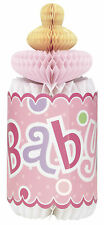 Pink Dots Baby Shower | Bottle Table Decoration | Honeycomb | Centrepiece 1-6pk