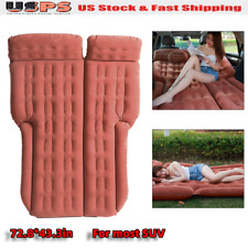 185*110cm SUV Inflatable Mattress Travel Camping Car Air Bed Back Seat coffee US