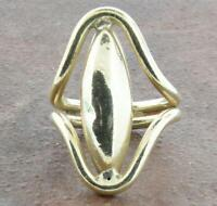 Vintage Sterling Silver Oval Ring Size ~ 80544S
