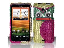 For HTC EVO 4G LTE Crystal Diamond BLING Hard Case Phone Cover Green Owl