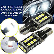 2Stk T10 W5W High Power CAN-Bus LED Standlicht mit 15*SMD LED Weiß 6000K Hell