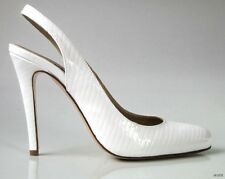new $495 LESILLA LE SILLA white slingbacks heels shoes 38 8 7.5 7 - HOT wedding