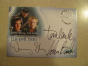 Buffy The Vampire Slayer Men of Sunnydale Autograph The Evil Trio