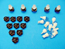 "15 White Dome LEDs Light Bulbs 1/2"" Sockets Side Marker Instrument Panel Mopar"