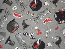 Halloween Fabric Oddities Elizabeth's Studio 4406 Quilting Cotton FQ, BTHY, BTY
