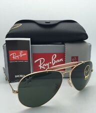 RAY-BAN Sunglasses OUTDOORSMAN II RB 3029 L2112 Aviator Gold Frames w/ G15 Green