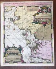 CARTE MARINE 1693 DE HOOGE LA ROCHELLE OLERON ILE DE RÉ CORDOUAN AIX