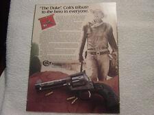 Colt Sa John Wayne 'The Duke' single sheet sales brochure