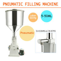5~50ml A02 Pneumatic Liquid Paste Filling Machine for Cream Shampoo Cosmetics