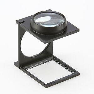 Peak 2003-WA3 Linen Tester Folding Metal Magnifier, 3x