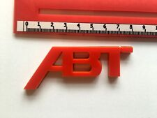GLOSS RED ABT SPORTSLINE REAR BADGE LOGO (81mm) AUDI SEAT VW SKODA 3M BACKING