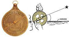 French Astrolabe Historical Brass Rashi Hanging Marine Vintage Antique Brass