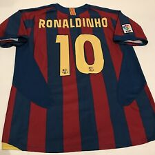 NIKE FC Barcelona Ronaldinho Home Jersey Trikot Maglia Kit Brazil FCB 04-05 XL