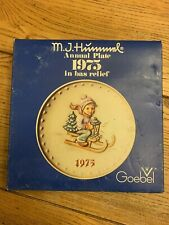 """1975 - Hummel Annual Plate #268 """"Ride Into Christmas"""" 5th Annual Plate With Box!"""