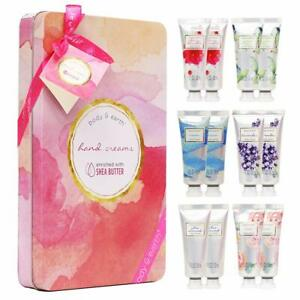Hand Cream Gift Set, BODY & EARTH Hand Lotion Set for Dry Hands with Shea Butter
