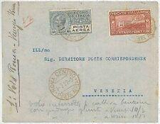 ITALIA storia postale - PRIMI VOLI - cat  LONGHI 1688 :  ROMA /  VENEZIA