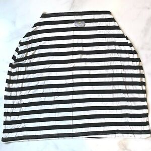 ITZY RITZY Baby Gear Nursing Cover Black White Stripe Carseat Cover 4 in 1