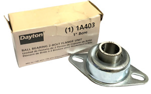 """Dayton 1A403 Flange Mount Ball Bearing Unit 1"""" Bore 2-Bolts (2 Available)"""