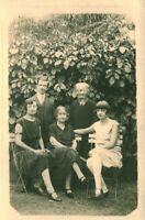 Carte photo ancienne photo de famille 1930 coiffure