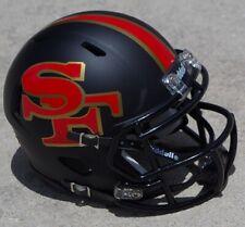 SAN FRANCISCO 49ers SPEED MATTE BLACK CONCEPT MINI FOOTBALL HELMET