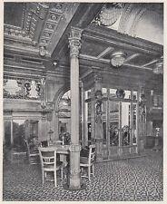 D2946 Transatlantico Conte Rosso - Sala da Musica - Stampa - 1922 vintage print