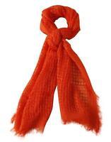 Cejon Scarf Wrap Open Weave Fringe Rectangle Lightweight Coral Orange New NWT