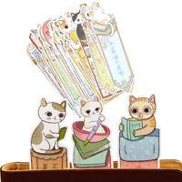 30Pcs/lot Cute Funny Cat Bookmark Paper Cartoon Animals Bookmark Promotional