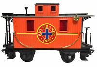 "Echo Toys Rio Grande Caboose G Scale Gauge Train Orange Red Plastic Toy 10 1/2"""