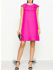 a0effec99872c1 TED BAKER Clarees pink frill ruffle collar A-line shift dress wedding party  1 8
