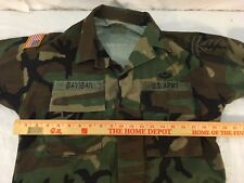 SPECIAL FORCES COLD WEATHER RANGER BDU JACKET TOP AIRSOFT WOODLAND SMALL SHORT