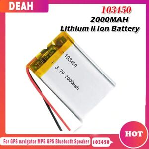 3.7V 2400mAh 103450 Lipo Polymer Lithium Rechargeable Battery