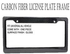JDM Style 1 pc Black Carbon FIBER LICENSE PLATE FRAME TAG COVER ORIGINAL 3K I301
