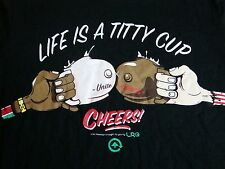 LRG Lifted Research Group Titty Cup Boobs Sexy Girls Tits Nude Cheers T Shirt M