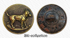 Antiguo Botón de Chasse. Chien. 23Mm. Francia, hacia 1900