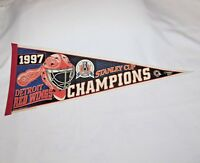 """WinCraft Sports """"1997 DETRIOT REDWINGS STANLEY CUP CHAMPS"""" 30"""" Felt Pennant"""